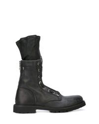 Мужские темно-серые кожаные повседневные ботинки от RtA