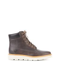 Мужские темно-серые кожаные повседневные ботинки от Timberland