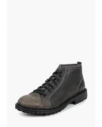 Мужские темно-серые кожаные повседневные ботинки от Weinbrenner by Bata