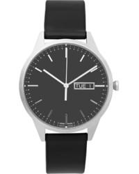Мужские темно-серые кожаные часы от Uniform Wares