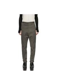 Темно-серые льняные брюки чинос от Rick Owens