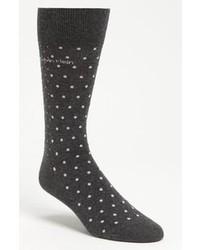 Темно-серые носки в горошек