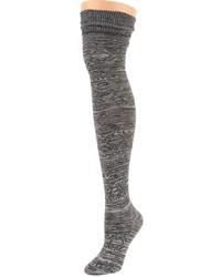 Темно-серые носки до колена