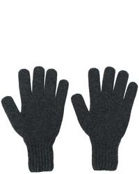 Мужские темно-серые перчатки от Drumohr