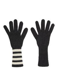 Мужские темно-серые перчатки от Thom Browne