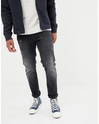 Мужские темно-серые рваные джинсы от ASOS DESIGN