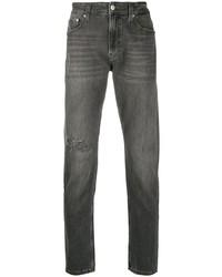 Мужские темно-серые рваные джинсы от Calvin Klein Jeans