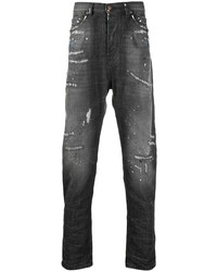Мужские темно-серые рваные джинсы от Diesel