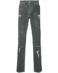 Мужские темно-серые рваные джинсы от Givenchy