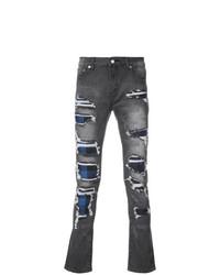Мужские темно-серые рваные джинсы от God's Masterful Children