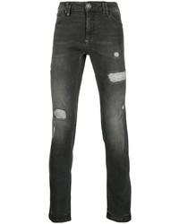 Мужские темно-серые рваные джинсы от Philipp Plein