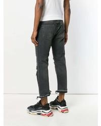 Мужские темно-серые рваные джинсы от R13