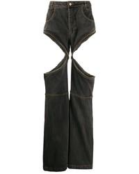 Мужские темно-серые рваные джинсы от Telfar