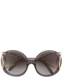 Женские темно-серые солнцезащитные очки от Chloé