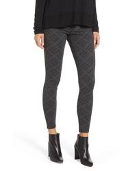 Темно-серые узкие брюки с принтом
