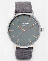 Темно-серые часы из плотной ткани