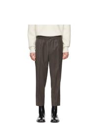 Темно-серые шерстяные брюки чинос от AMI Alexandre Mattiussi