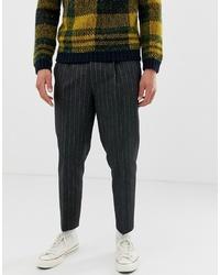 Темно-серые шерстяные брюки чинос от ASOS DESIGN