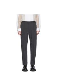 Темно-серые шерстяные брюки чинос от Helmut Lang