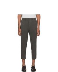 Темно-серые шерстяные брюки чинос от Homme Plissé Issey Miyake