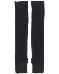 Темно-серые шерстяные длинные перчатки от MM6 MAISON MARGIELA