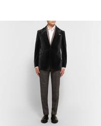 Мужские темно-серые шерстяные классические брюки в клетку от Ermenegildo Zegna
