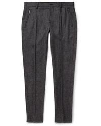 Темно-серые шерстяные классические брюки