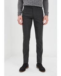 Мужские темно-серые шерстяные классические брюки от BAWER