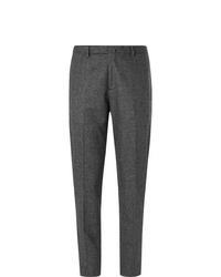 Мужские темно-серые шерстяные классические брюки от Boglioli