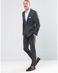 Мужские темно-серые шерстяные классические брюки от Ben Sherman