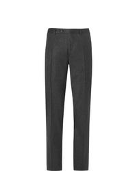 Мужские темно-серые шерстяные классические брюки от Canali