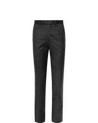 Мужские темно-серые шерстяные классические брюки от Ermenegildo Zegna