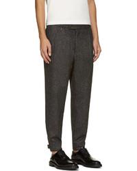 Мужские темно-серые шерстяные классические брюки от Moncler