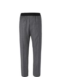 Мужские темно-серые шерстяные классические брюки от Helmut Lang