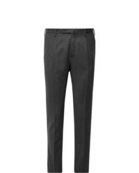 Мужские темно-серые шерстяные классические брюки от Incotex
