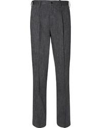 Мужские темно-серые шерстяные классические брюки от Issey Miyake