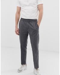 Мужские темно-серые шерстяные классические брюки от KIOMI