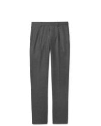 Мужские темно-серые шерстяные классические брюки от Loro Piana