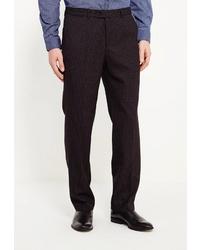 Мужские темно-серые шерстяные классические брюки от Marcello Gotti