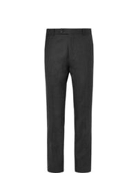 Мужские темно-серые шерстяные классические брюки от Mr P.