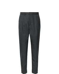 Мужские темно-серые шерстяные классические брюки от Officine Generale