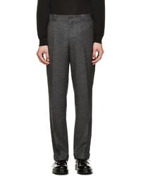 Мужские темно-серые шерстяные классические брюки от Paul Smith