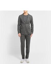 Мужские темно-серые шерстяные классические брюки от Gant