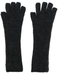 Мужские темно-серые шерстяные перчатки от Isabel Benenato