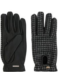 Мужские темно-серые шерстяные плетеные перчатки от Lardini