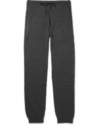 Темно-серые шерстяные спортивные штаны