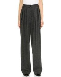Темно-серые широкие брюки