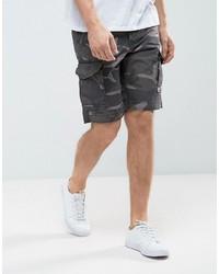 Мужские темно-серые шорты с принтом от Jack and Jones