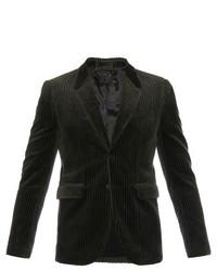 Темно-серый вельветовый пиджак