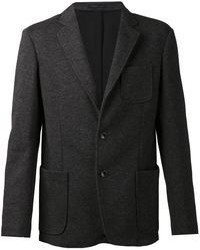 Темно-серый вязаный пиджак